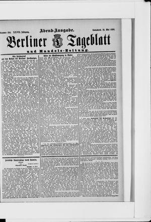 Berliner Tageblatt und Handels-Zeitung vom 21.05.1898