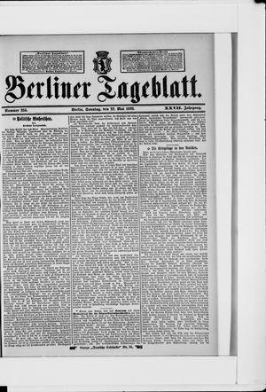 Berliner Tageblatt und Handels-Zeitung vom 22.05.1898