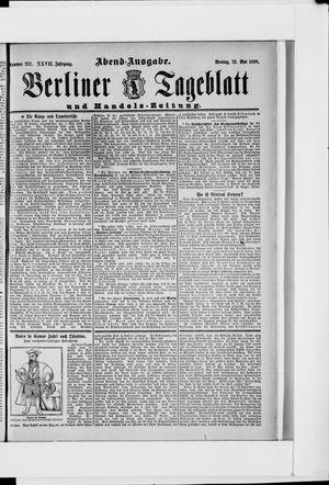 Berliner Tageblatt und Handels-Zeitung vom 23.05.1898