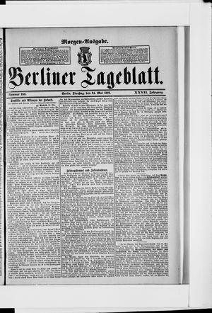 Berliner Tageblatt und Handels-Zeitung vom 24.05.1898