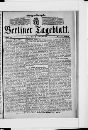 Berliner Tageblatt und Handels-Zeitung vom 25.05.1898