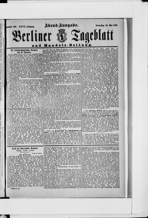 Berliner Tageblatt und Handels-Zeitung vom 26.05.1898
