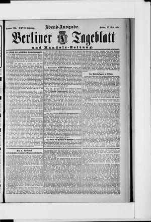 Berliner Tageblatt und Handels-Zeitung vom 27.05.1898