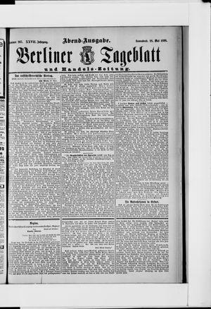 Berliner Tageblatt und Handels-Zeitung vom 28.05.1898