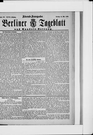 Berliner Tageblatt und Handels-Zeitung vom 31.05.1898