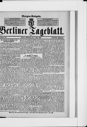 Berliner Tageblatt und Handels-Zeitung vom 01.06.1898