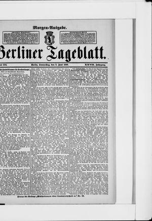 Berliner Tageblatt und Handels-Zeitung vom 02.06.1898
