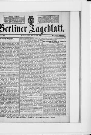 Berliner Tageblatt und Handels-Zeitung vom 05.06.1898