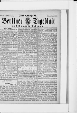 Berliner Tageblatt und Handels-Zeitung vom 08.06.1898