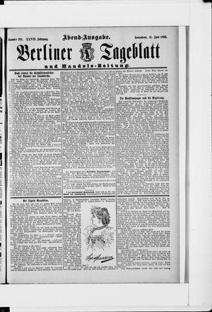 Berliner Tageblatt und Handels-Zeitung vom 11.06.1898