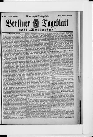 Berliner Tageblatt und Handels-Zeitung vom 13.06.1898