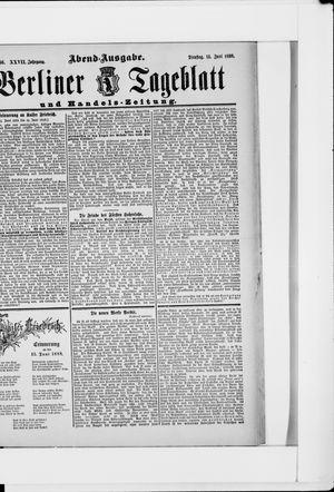 Berliner Tageblatt und Handels-Zeitung vom 14.06.1898