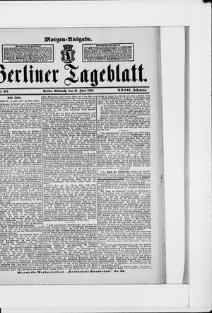 Berliner Tageblatt und Handels-Zeitung vom 15.06.1898