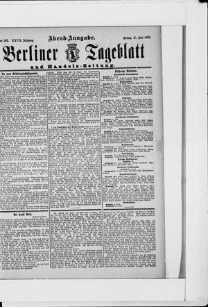 Berliner Tageblatt und Handels-Zeitung on Jun 17, 1898