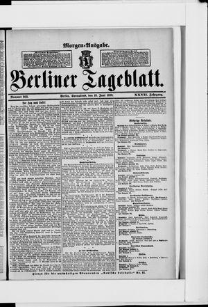 Berliner Tageblatt und Handels-Zeitung vom 18.06.1898
