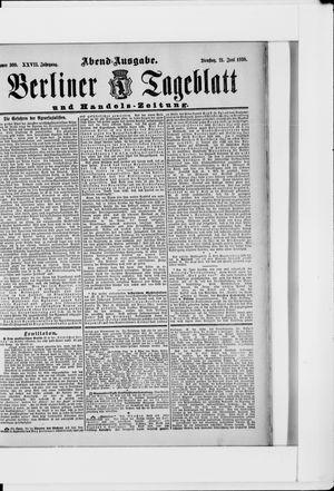 Berliner Tageblatt und Handels-Zeitung vom 21.06.1898