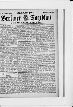 Berliner Tageblatt und Handels-Zeitung vom 22.06.1898