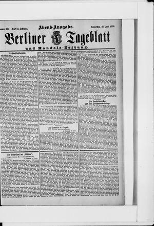 Berliner Tageblatt und Handels-Zeitung vom 23.06.1898