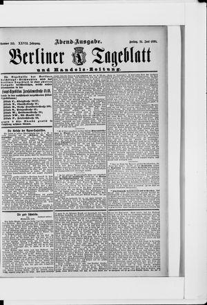 Berliner Tageblatt und Handels-Zeitung vom 24.06.1898