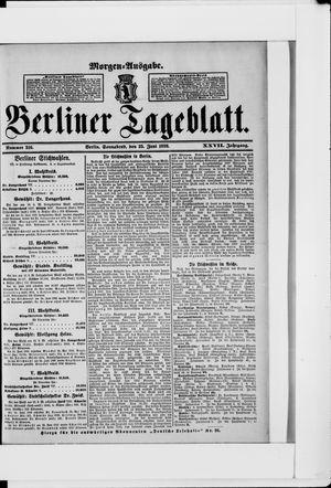 Berliner Tageblatt und Handels-Zeitung vom 25.06.1898