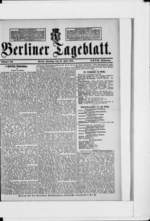 Berliner Tageblatt und Handels-Zeitung vom 26.06.1898