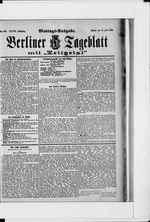 Berliner Tageblatt und Handels-Zeitung vom 27.06.1898