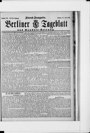 Berliner Tageblatt und Handels-Zeitung vom 28.06.1898