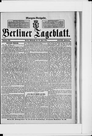 Berliner Tageblatt und Handels-Zeitung vom 29.06.1898