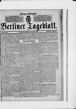 Berliner Tageblatt und Handels-Zeitung vom 30.06.1898
