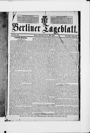 Berliner Tageblatt und Handels-Zeitung on Jul 3, 1898