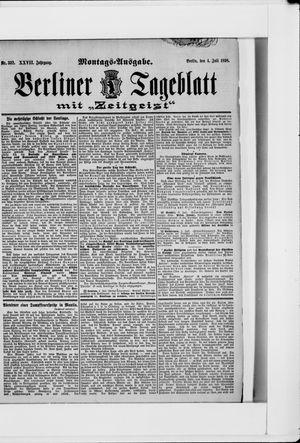 Berliner Tageblatt und Handels-Zeitung on Jul 4, 1898