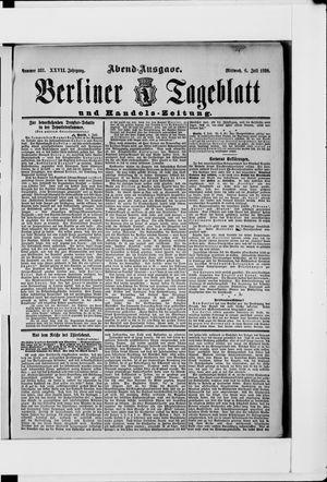 Berliner Tageblatt und Handels-Zeitung vom 06.07.1898