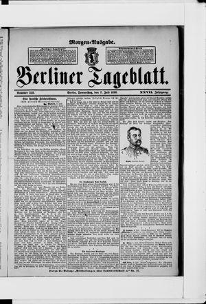 Berliner Tageblatt und Handels-Zeitung on Jul 7, 1898