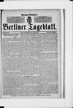 Berliner Tageblatt und Handels-Zeitung vom 09.07.1898