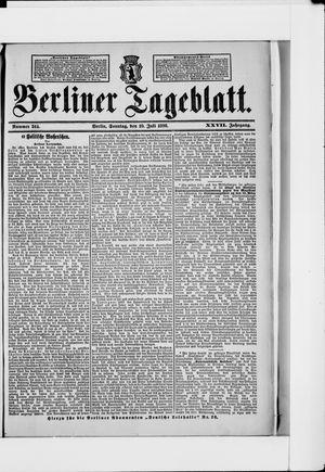 Berliner Tageblatt und Handels-Zeitung vom 10.07.1898