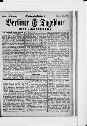 Berliner Tageblatt und Handels-Zeitung vom 11.07.1898