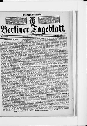 Berliner Tageblatt und Handels-Zeitung on Jul 13, 1898