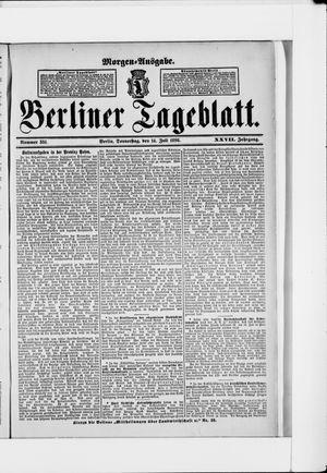 Berliner Tageblatt und Handels-Zeitung vom 14.07.1898