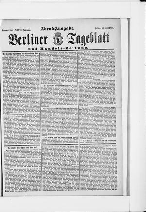 Berliner Tageblatt und Handels-Zeitung vom 15.07.1898