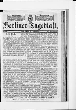 Berliner Tageblatt und Handels-Zeitung vom 01.01.1899