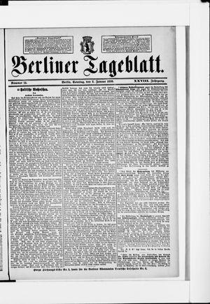 Berliner Tageblatt und Handels-Zeitung vom 08.01.1899