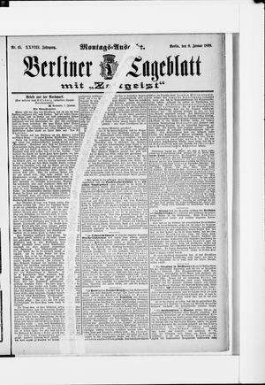 Berliner Tageblatt und Handels-Zeitung vom 09.01.1899