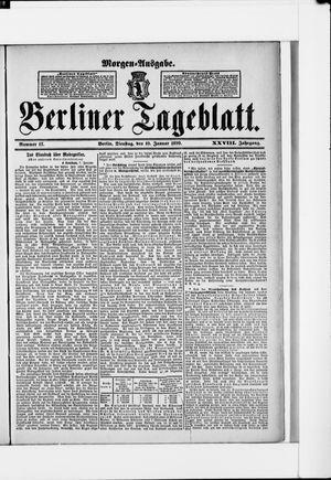 Berliner Tageblatt und Handels-Zeitung vom 10.01.1899