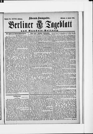 Berliner Tageblatt und Handels-Zeitung vom 11.01.1899
