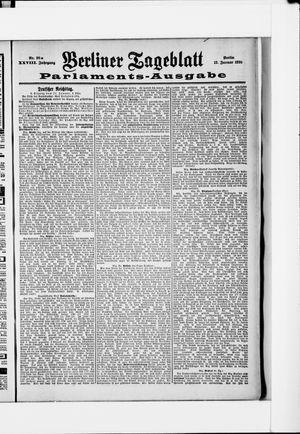 Berliner Tageblatt und Handels-Zeitung vom 12.01.1899