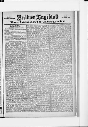 Berliner Tageblatt und Handels-Zeitung on Jan 13, 1899
