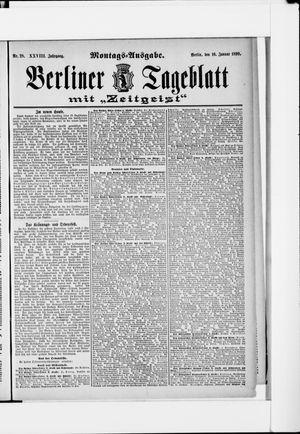 Berliner Tageblatt und Handels-Zeitung vom 16.01.1899