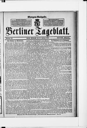 Berliner Tageblatt und Handels-Zeitung vom 18.01.1899