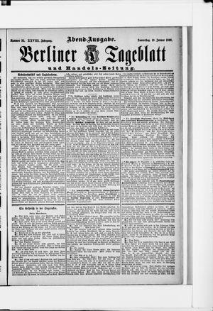 Berliner Tageblatt und Handels-Zeitung vom 19.01.1899
