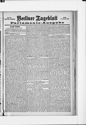 Berliner Tageblatt und Handels-Zeitung vom 21.01.1899